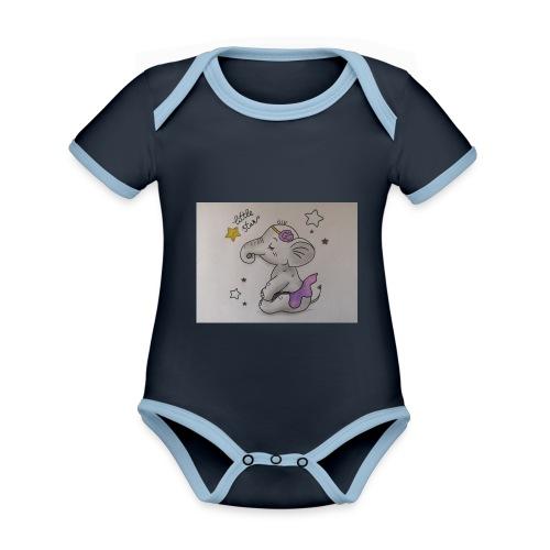 Animaux rigolos pour un Body Bio personnalisé - Body Bébé bio contrasté manches courtes