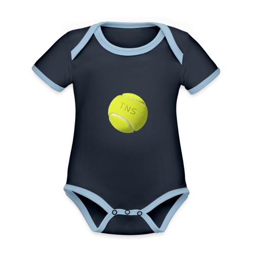 Tenis - Body contraste para bebé de tejido orgánico