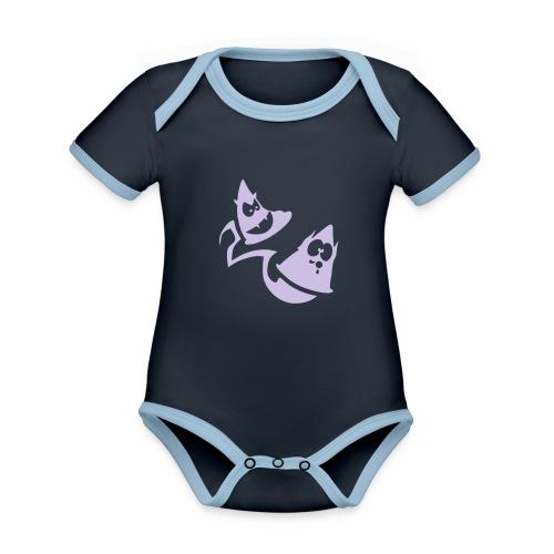 Conos diabolicos con estela - Body contraste para bebé de tejido orgánico