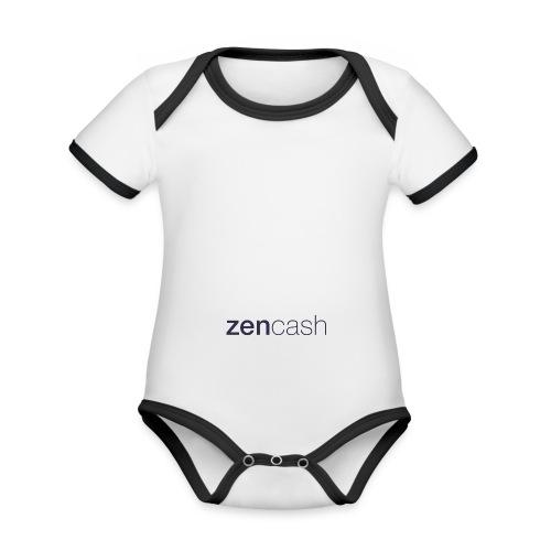 ZenCash CMYK_Horiz - Full - Organic Baby Contrasting Bodysuit