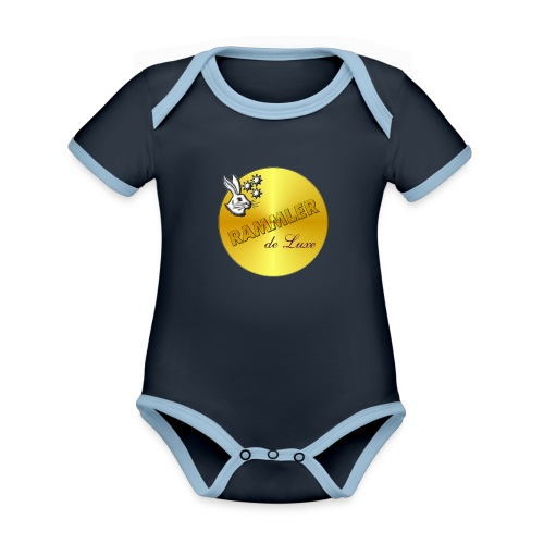 rammler - Baby Bio-Kurzarm-Kontrastbody