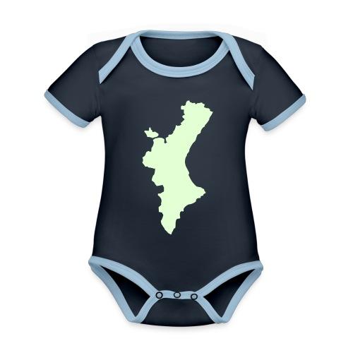 València - Body contraste para bebé de tejido orgánico