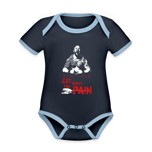 pain - Baby Bio-Kurzarm-Kontrastbody
