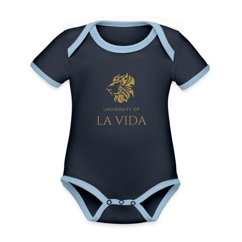 University of LA VIDA - Ekologisk kontrastfärgad kortärmad babybody