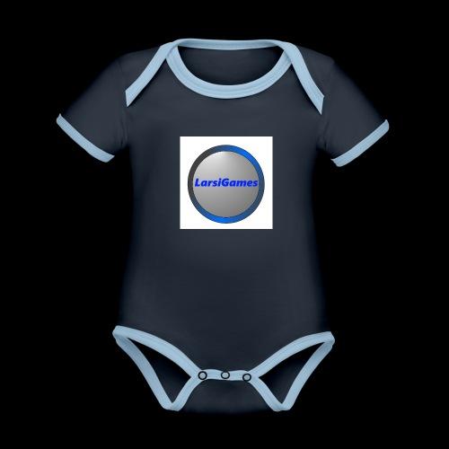 LarsiGames - Baby contrasterend bio-rompertje met korte mouwen