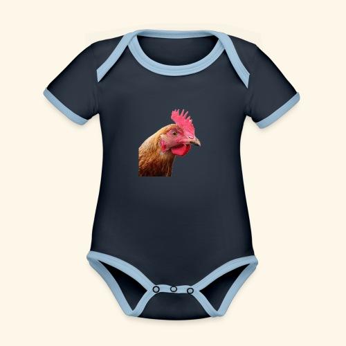 chicken PNG2159 - Vauvan kontrastivärinen, lyhythihainen luomu-body
