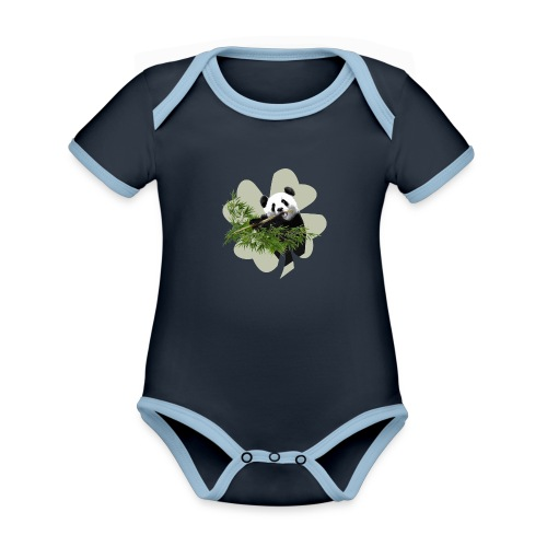 My lucky Panda - Body Bébé bio contrasté manches courtes