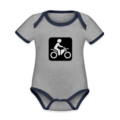 motorcycle - Vauvan kontrastivärinen, lyhythihainen luomu-body