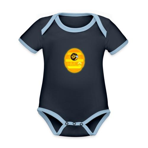 Herre T-Shirt - Med logo - Kortærmet økologisk babybody i kontrastfarver