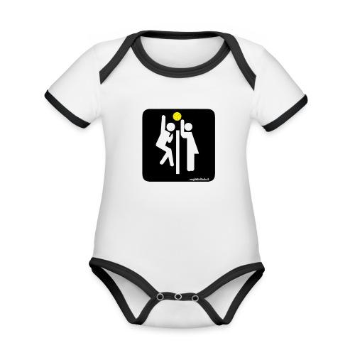 Toilet Volley - Body da neonato a manica corta, ecologico e in contrasto cromatico