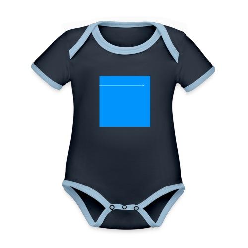 sklyline blue version - Body Bébé bio contrasté manches courtes