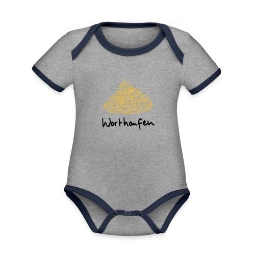 Worthaufen - Baby Bio-Kurzarm-Kontrastbody