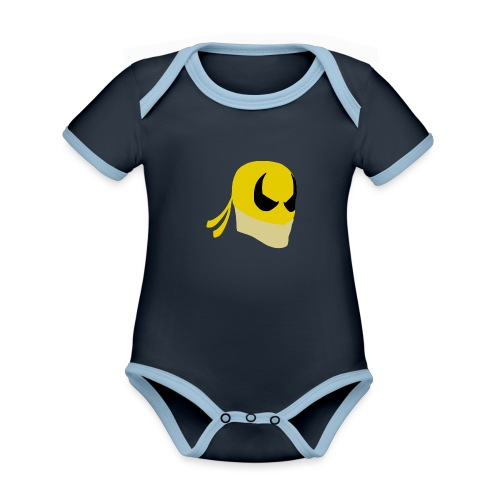 Iron Fist Simplistic - Organic Baby Contrasting Bodysuit