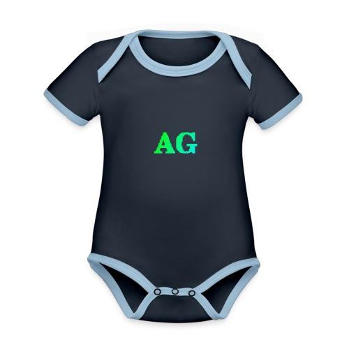 ATG Games logo - Vauvan kontrastivärinen, lyhythihainen luomu-body