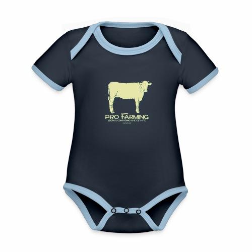 PRO Farming - Body da neonato a manica corta, ecologico e in contrasto cromatico