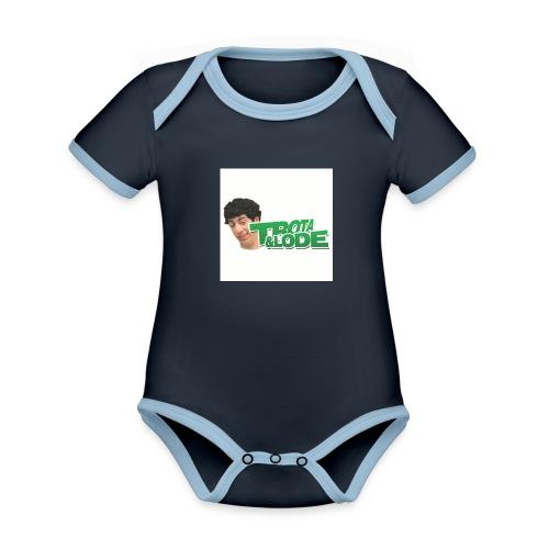 spillette - Body da neonato a manica corta, ecologico e in contrasto cromatico