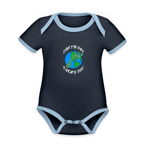 Earth Day Every Day - Baby Bio-Kurzarm-Kontrastbody