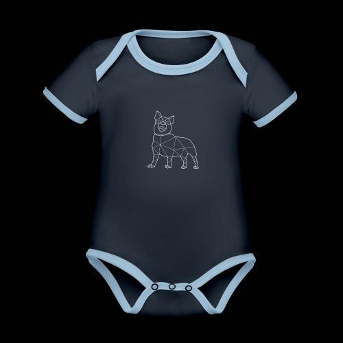 LOKI - Vauvan kontrastivärinen, lyhythihainen luomu-body