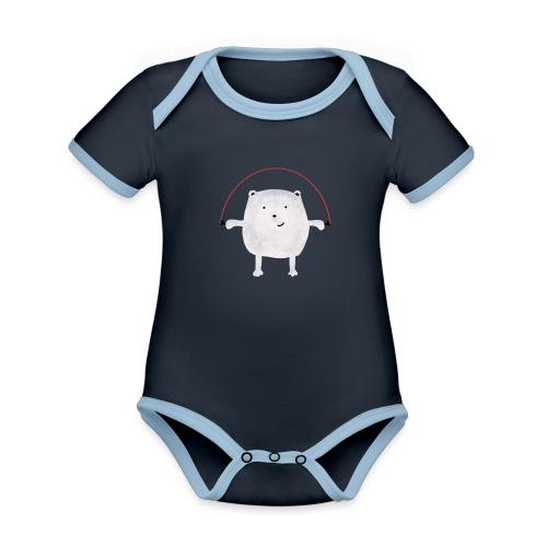 Jumping Monsta by #OneCreativeArts - Baby Bio-Kurzarm-Kontrastbody