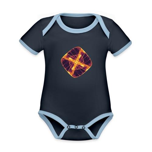 Chakra Mandala Mantra OM Chaos Star Circle 12255i - Organic Baby Contrasting Bodysuit