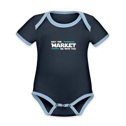 May the market be with you - Body Bébé bio contrasté manches courtes