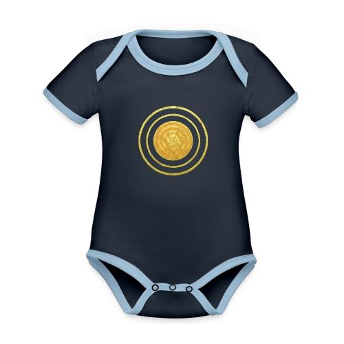Glückssymbol Sonne - positive Schwingung - Spirale - Baby Bio-Kurzarm-Kontrastbody