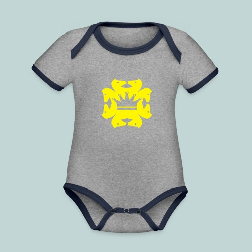 acht Springer - Baby Bio-Kurzarm-Kontrastbody