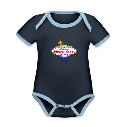 Welcome to fabulous Night City Cyber Punk 2077 - Baby Bio-Kurzarm-Kontrastbody