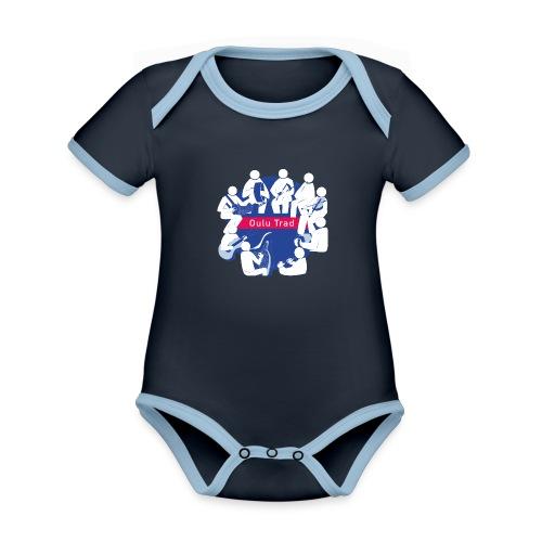 OULU Trad - Official - Vauvan kontrastivärinen, lyhythihainen luomu-body
