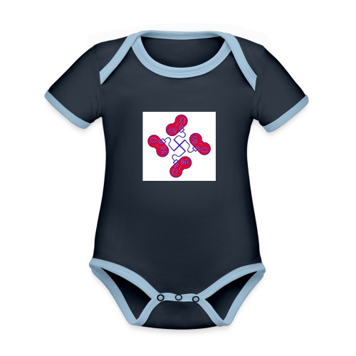 unkeon dunkeon - Vauvan kontrastivärinen, lyhythihainen luomu-body