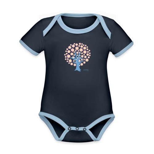 Spring - Vauvan kontrastivärinen, lyhythihainen luomu-body