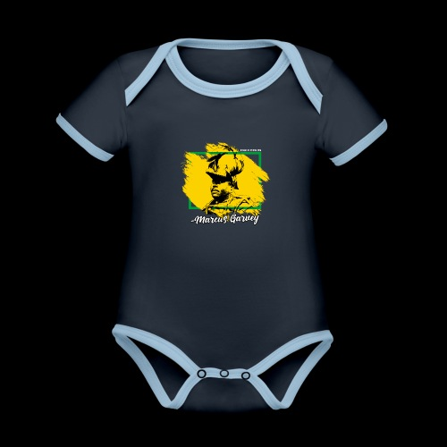 MARCUS GARVEY by Reggae-Clothing.com - Baby Bio-Kurzarm-Kontrastbody
