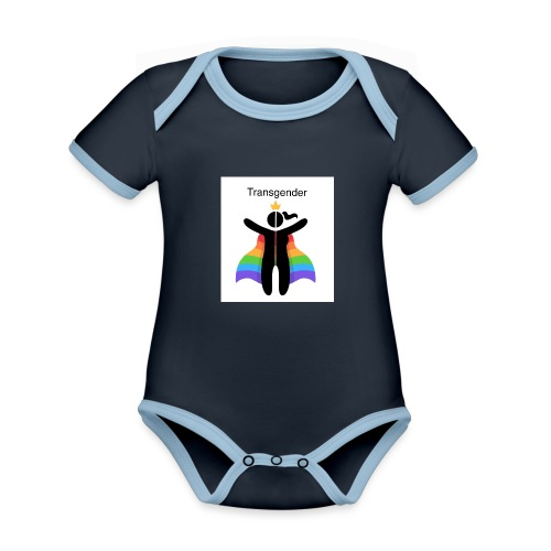LGBT Transgender - Kortærmet økologisk babybody i kontrastfarver