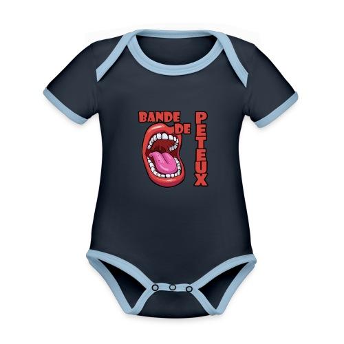 bande de peteux - Body Bébé bio contrasté manches courtes
