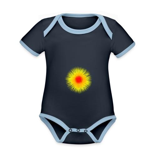 Sonne I - Baby Bio-Kurzarm-Kontrastbody