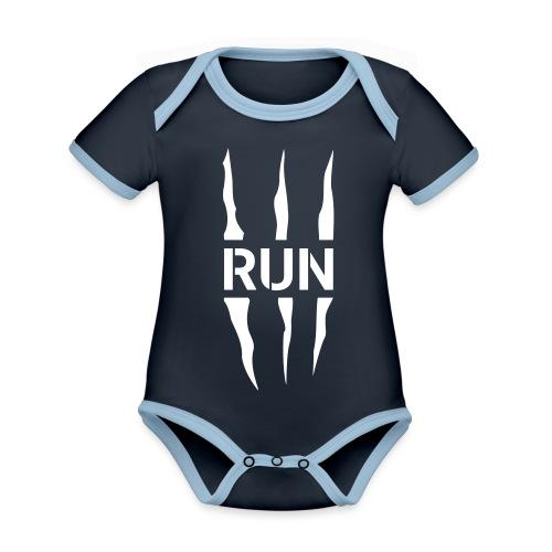Run Scratch - Body Bébé bio contrasté manches courtes