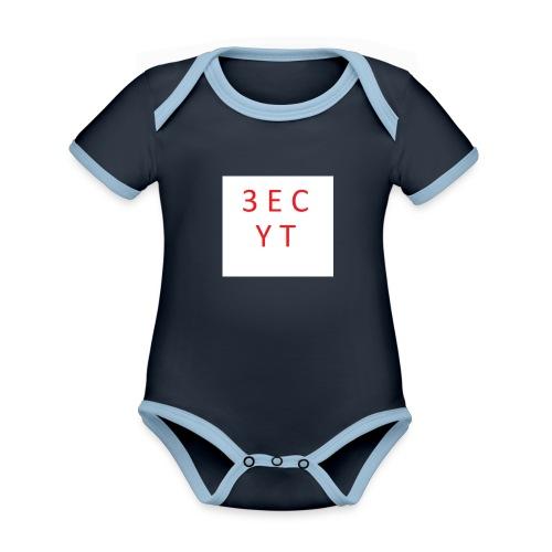 3ec yt - Baby Bio-Kurzarm-Kontrastbody