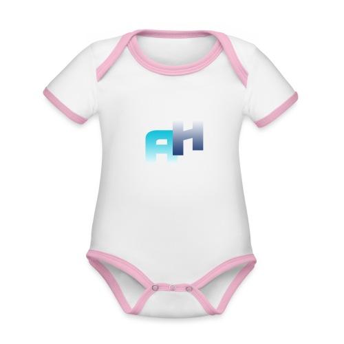 Logo-1 - Body da neonato a manica corta, ecologico e in contrasto cromatico