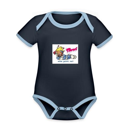 panki sticker neu - Baby Bio-Kurzarm-Kontrastbody