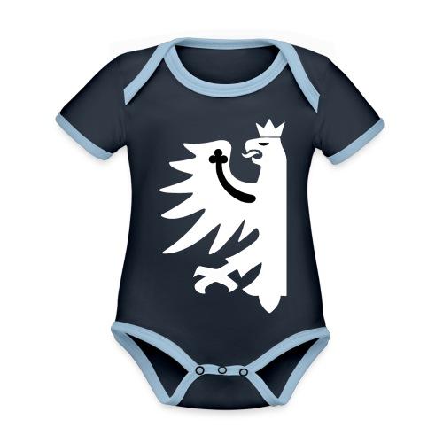 Tirol - Baby Bio-Kurzarm-Kontrastbody