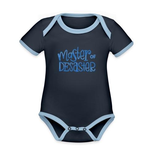 master of desaster - Baby Bio-Kurzarm-Kontrastbody
