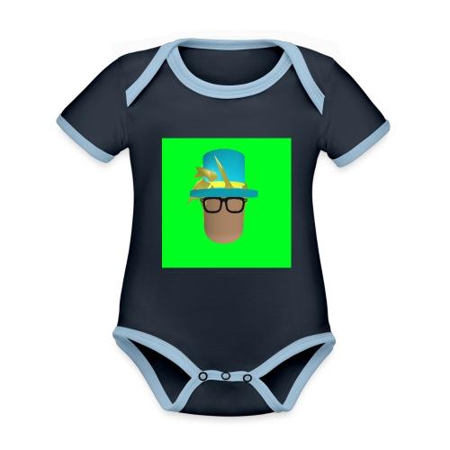 MrWhatWhat Logo Merch - Organic Baby Contrasting Bodysuit