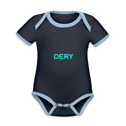 DERY - Baby Bio-Kurzarm-Kontrastbody