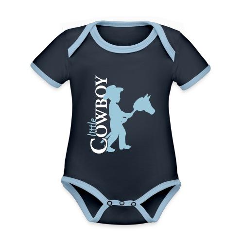 LittleCowboy's - Baby Bio-Kurzarm-Kontrastbody