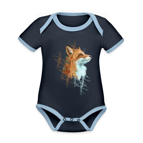 Happy the Fox - Baby Bio-Kurzarm-Kontrastbody