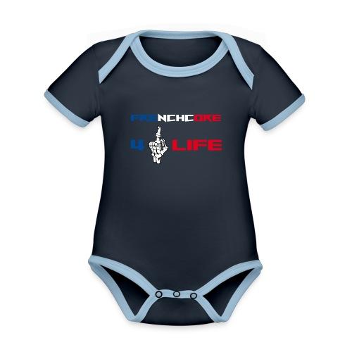 Frenchwear 14 - Baby Bio-Kurzarm-Kontrastbody