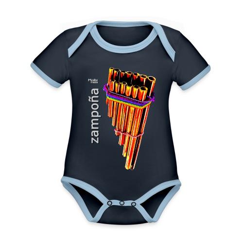Zampoña clara - Organic Baby Contrasting Bodysuit