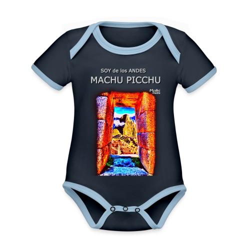 SOY de los ANDES - Machu Picchu I - Body Bébé bio contrasté manches courtes