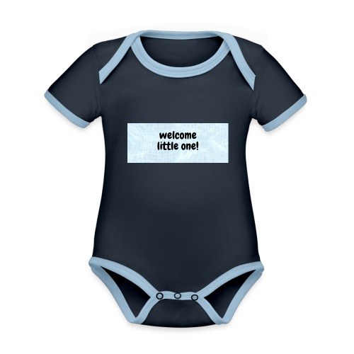 welcome little one - Baby contrasterend bio-rompertje met korte mouwen