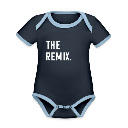 The Remix T-Shirt Baby Eltern Kind Paar Outfit - Baby Bio-Kurzarm-Kontrastbody